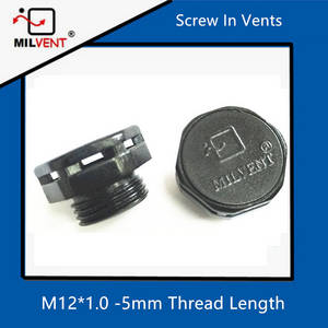 Wholesale Valves: Protective Vent M12*1.0-5 Short Type Screw in Air Brether IP68 Plug