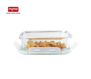 Wholesale airtight container: High Borosilicate Glass Food Storage Container with Airtight Lid