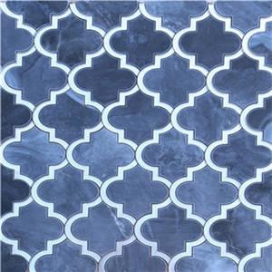 Wholesale mosaic: Beautiful Waterjet Marble Mixed Mirror Mosaic Supplier