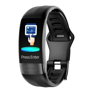 Wholesale smart band: 2019 New PPG ECG Smart Fitness Tracker Band Calorie Pedometer Distance OLED P11 Smartband