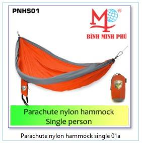 Wholesale parachute camping hammock: Wholesale Lightweight Portable Nylon Parachute Double Hammock with Hammock Tree Straps (Orange + Gra