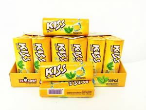 Wholesale children's movies: Kiss Candy Lemon with Mint Flavor Compressed Mint Candy Fresh Your Mouth