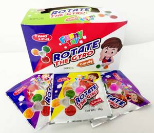Wholesale toy candy: Spinner Shape Hard Candy Multi Fruit Flavor with Lovely Shape Spinner Toy Tasty and Funny