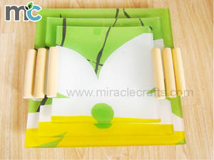 Wholesale serving tray: MC Unique Design Tempered Glass Plates Flat Buffet Plate Serving Dish Glass Tray