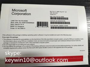 Wholesale win 8: Microsoft Windows 8.1 Pro Pack 64bit / Win Pro Pack 8.1 for Tablet  New Coa Sticker