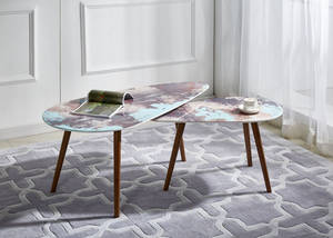 Wholesale Coffee Tables: 3D Marble Effect Modern Coffee Table Set