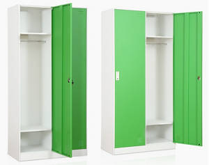 Wholesale Armoires & Wardrobes: Hot Sale Cheap Storage Knock Down Steel Locker Clothes Cabinet Hanging