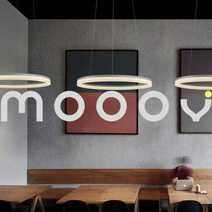 Wholesale ring led light: Modern Simple Living Room Hanging Decorative Cycle Ring Acrylic LED Indoor Pendant Light