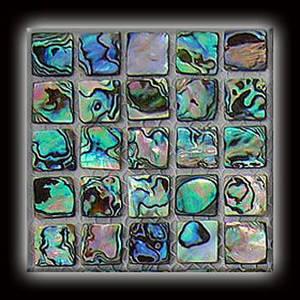 Wholesale abalone shells: Abalone 'Paua' Shell Mosaic Tile On Mesh