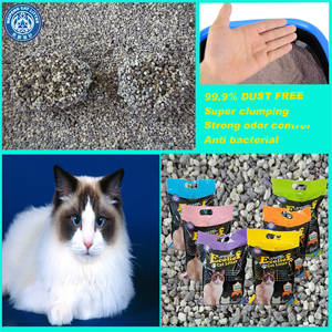 Wholesale powdered activated carbon price: Super Clumping 99.9% Dust Free Broken Bentonite Cat Litter with Scents