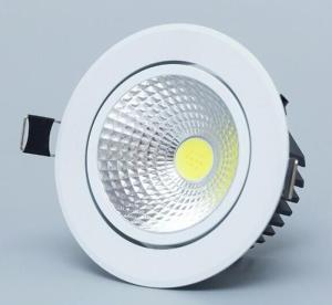 Wholesale grille spot light: LED Downlight Light COB Ceiling Spot Light Dimmable 3w 5w 7w 12w 85-265V Ceiling Recessed Lights Ind