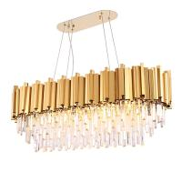 Rectangle Modern Chandelier Lighting for Dining Room Luxury LED Crystal Lamp in the Kitchen Island
