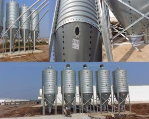 Wholesale poultry feed line: Galvanized Feed Bins or Feed Tower for Pig Farm Project Grain Storage Silo Price Pig Feeding Equipme