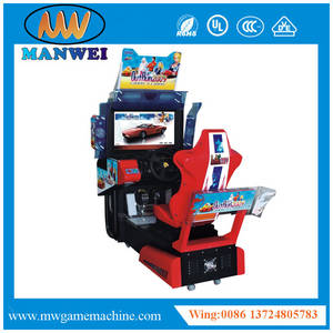 Wholesale video game machine: 2017 the Most Popular Car Racing Coin Operated Simulator Video Games Machine Outrun