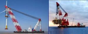 Wholesale czech floating crane barge: Floating Crane 1000t for Sale Rent Charter Crane Barge 1000t 1000 Ton Crane Ship Charter Buy Rent