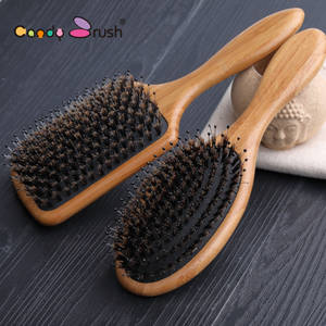 Wholesale boar bristle brush: Paddle Boar  Bristle Hair Brush for Straight Hair Wooden Hair Brush