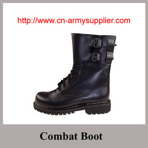 Wholesale combat boot factory: Full grain leather Ankle Military Combat Boot for Army Police Wear