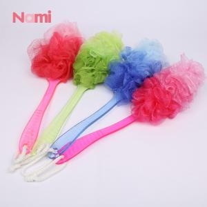 Wholesale mesh sponge: Mesh Pouf Bath Sponge with Handle