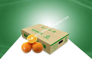 Wholesale shipping box: 100% Eco - Friendly Corrugated Carton Boxes Paper Shipping Box for Fruits Packing