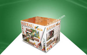 Wholesale Storage Bins: Full Color Flexo Pring Cardboard Dump Bins Cardboard Display Units for Market