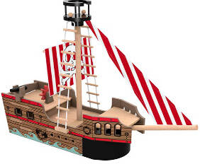 Wholesale wooden toys: Wooden Toys Pirate Ship