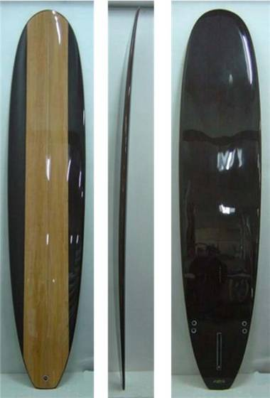 New 9 8 Clear Epoxy Wood Grain Longboard Surfboard Id