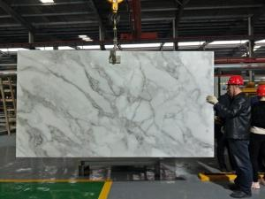 Wholesale Crystallized Glass Panels: Nano Crystal Glass Stone Artificial White Carrara Marble Big Slabs