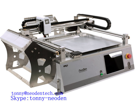Prototype Machine Pick and Place NeoDen3V with Vision for SMT Production Line with 42 Feeders