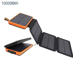 Wholesale solar phone charging: 100% Full Charging by Sunlight 10000mah Foldable Solar Power Bank with Waterproof Solar Panel Charge