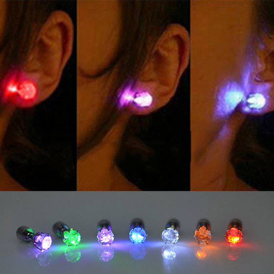 Sell promotion gift new product led flashing earrings