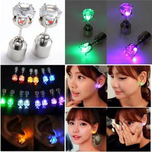 Wholesale led supplier: (Factory Supplier) Multicolor Bright Stylish Fashion LED Earrings Glowing Lighting Earring Flashing
