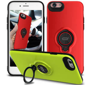 Wholesale mobile phone: Ring Case for IPHONE6, 360 Rotate Ring Phone Case for Iphone 6 6s Plus Mobile Phone Cover