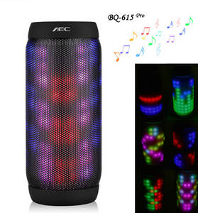 Wholesale portable speakers: LED Stere Support TF Card FM Radio Wireless NFC Super Bass Subwoofer Sound Box Portable Speaker