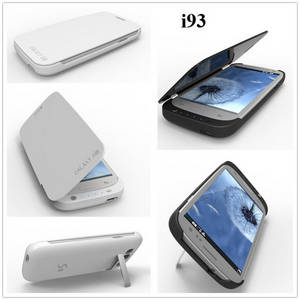 Wholesale backup power: 3200mah External Backup Power  Charge Case for Samsung S3 with Leather Cover
