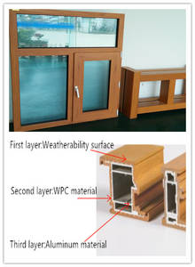 Wholesale windows: Three-layers Co-extrusion Wooden-plastic Composite Windows