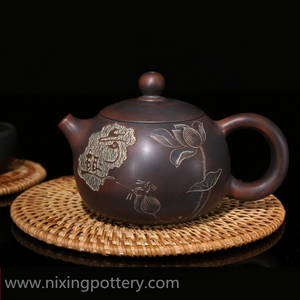 Wholesale Pots & Kettles: Qinzhou Chinese Nixing /Yixing Pottery Antiqued Xishi Purple Clay Pot Pure Handmade Tea Pot TeaWare