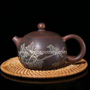 Wholesale ceramic pot: Nixing Pottery Pure Engraving Xishi Teapot Ceramic Tea Pot