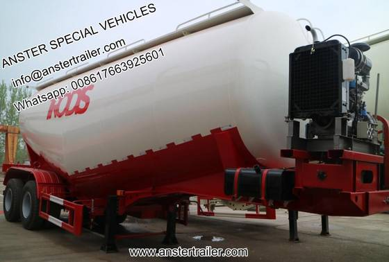 Sell 2 3 4 Axles 40 50 60 M3 Cbm Pneumatic Bulk Cement Tank Trailer for Sale