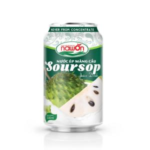 Wholesale fresh fruit: Soursop Fruit Juice Canned Drink 330ml Alu Can  Fresh and  Real Manufacturer From Vietnam