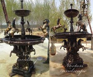 Wholesale water park equipment: Bronze Fountain with Horse Statues