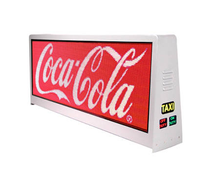 outdoor advertising displays: Sell Taxi Top Display