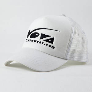Wholesale Sports Caps: Cheapest Curved Brim Trucker Cap with Flat Embroidery