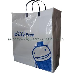 Wholesale 12mic: Rigid Handle Plastic Bag Made in Vietnam
