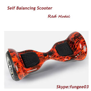 Wholesale smart wheel balance board: Red Two Wheels Smart Self Balancing Unicycle Scooters Drifting Board Electric with LED Light