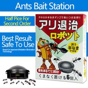 Wholesale insect killer: Robot Movable Pre-filled Ant Killer Insect Gel Bait Station 1 Box(6 Sets)
