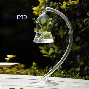 Wholesale Glass & Crystal Vases: Clear Hanging Style Plant Flower Pot Vase HP11