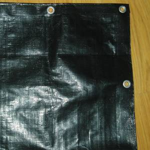 Wholesale Other Plastic Products: Black waterproof PE tarpaulin for industry