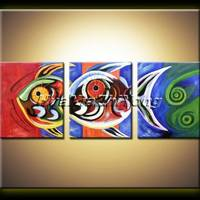 Original Abstract Oil Painting Large Art 0924