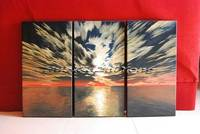 Modern Abstract Stretched Oil Painting Seascape