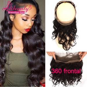 Wholesale u: High Quality 360 Lace Frontal Closure Brazilian Body Wave 360 Lace Frontal